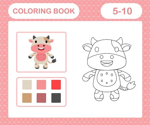 Página para colorir de vaca fofa