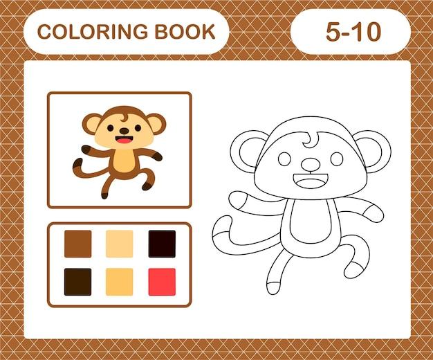 Página para colorir do macaco fofo