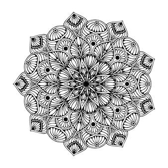 Página para colorir mandala, terapia oriental