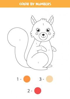 Página para colorir para crianças. esquilo bonito dos desenhos animados.