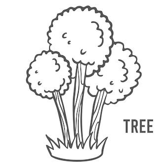 Página para colorir para crianças pré-escolares. aprenda os números de jardins de infância e escolas. jogo educativo. ilustração vetorial