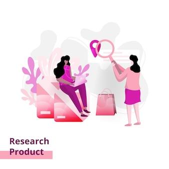 Página pesquisa de produto, o conceito de mulher que trabalha