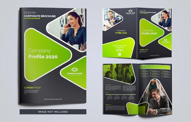 Páginas brochura do perfil da empresa