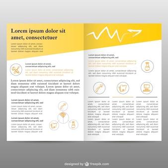 Páginas brochura fundo livre