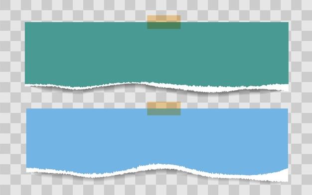 Páginas de bloco de notas quadradas em branco e fita adesiva