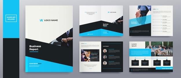 Páginas de brochura modernas