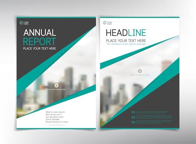Páginas de capa de negócios modernos, modelo com copyspace