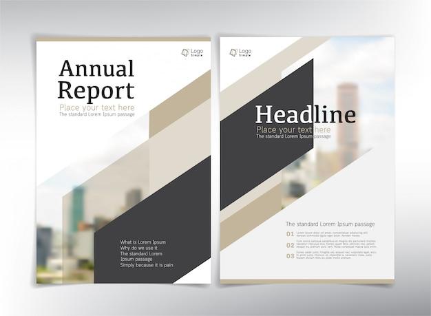 Páginas de capa de negócios modernos, modelo