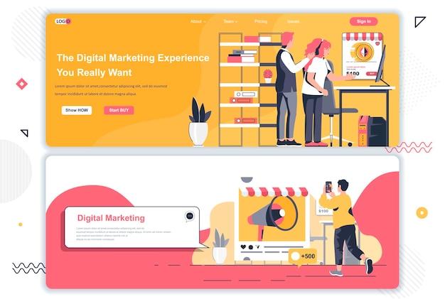 Páginas de destino da agência de marketing digital