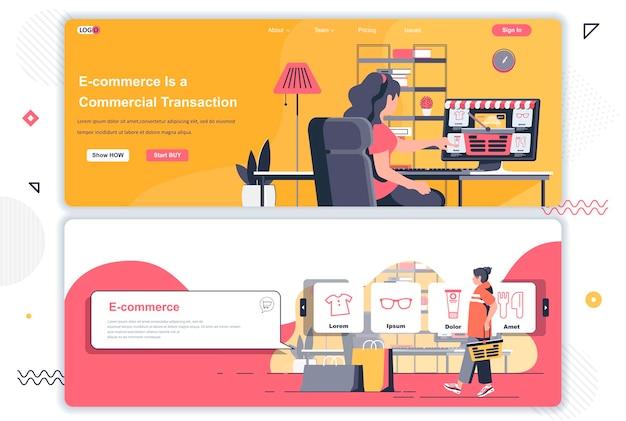 Páginas de destino de comércio eletrônico