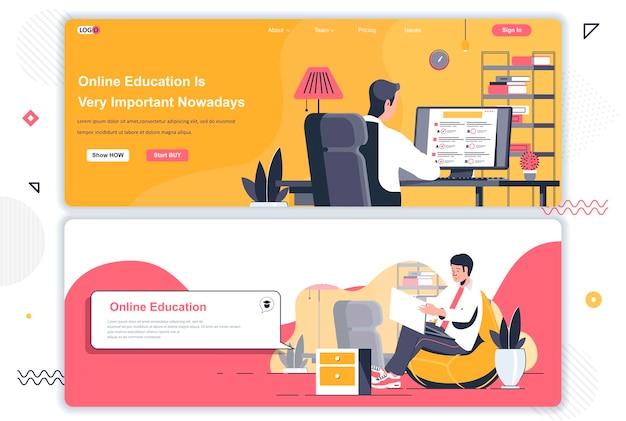 Páginas de destino de educação online
