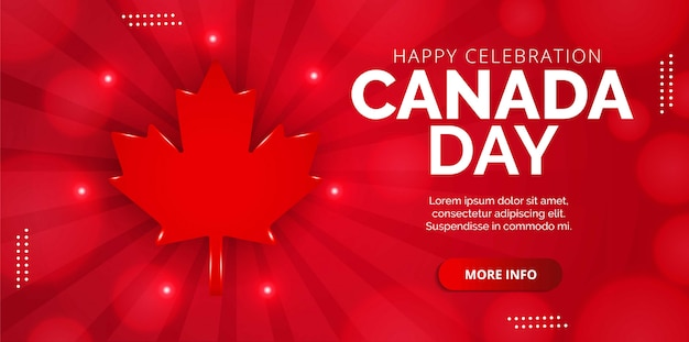 Páginas de destino vermelhas para o dia do canadá. projeto s para banners, planos de fundo, pôsteres ou cartões.