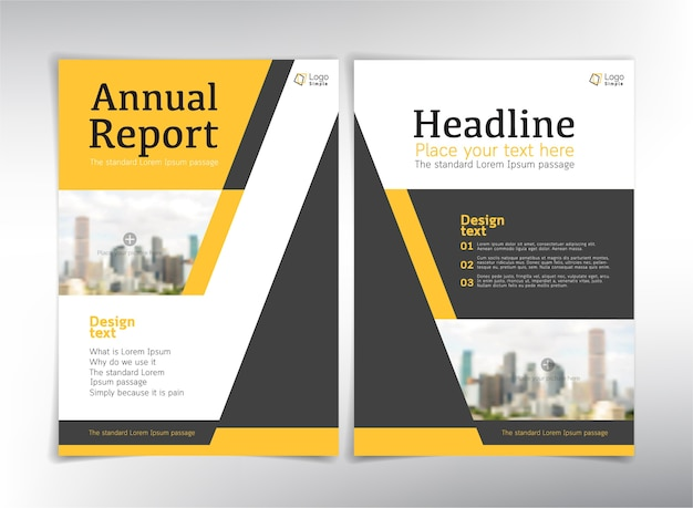 Páginas de rosto do relatório anual