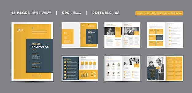Páginas design de proposta de projeto de negócios | relatório anual e brochura da empresa | design de livretos e catálogos