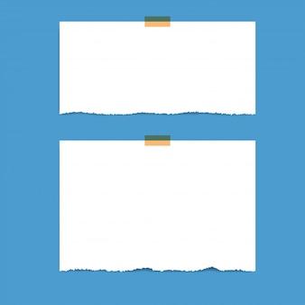 Páginas do bloco de notas ao quadrado em branco e fita