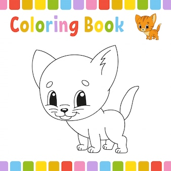 Páginas do livro de colorir para crianças. ilustração de bonito dos desenhos animados.
