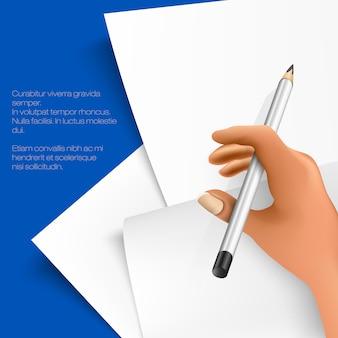 Páginas em branco, páginas de papel com uma caneta