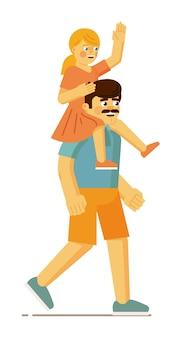 Pai carregando sua filha