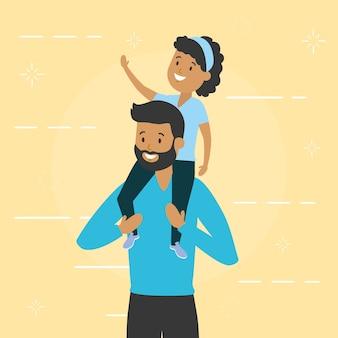 Pai com filha pequena