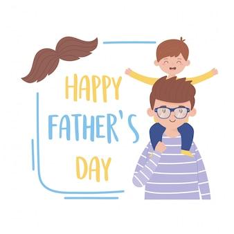 Pai com filho no dia dos pais