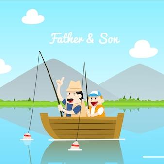 Pai e filho ilustração
