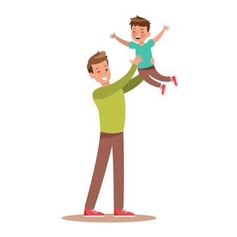Pai e filho jogando
