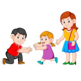 Pai, reunião, seu, família