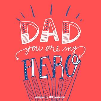Pai você é meu herói cartão