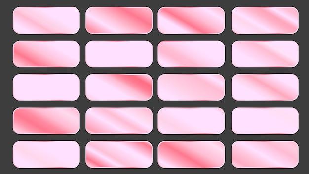 Painéis gradientes da coleção ouro rosa