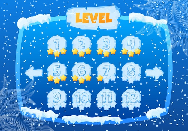 Painel de controle frio da temporada de jogos de inverno