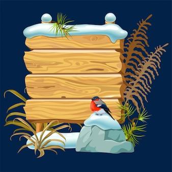 Painel de jogo dos desenhos animados com neve e dom-fafe.