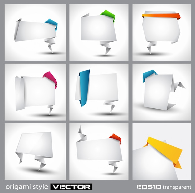 Painel de papel estilo origami para publicidade ou produto comercial