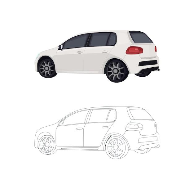 Painel do livro do carro para colorir