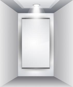 Painel showroom para produto com holofotes led
