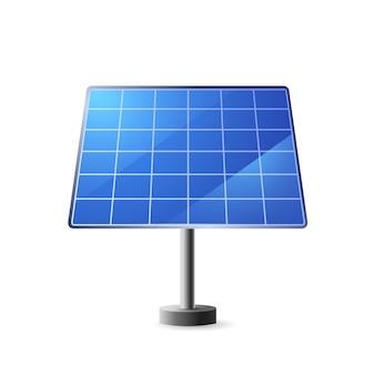 Painel solar placas azuis com células para extração alternativa de energia