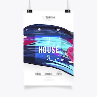 Paint music poster template
