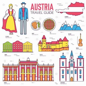 País áustria viagem guia de férias de mercadorias