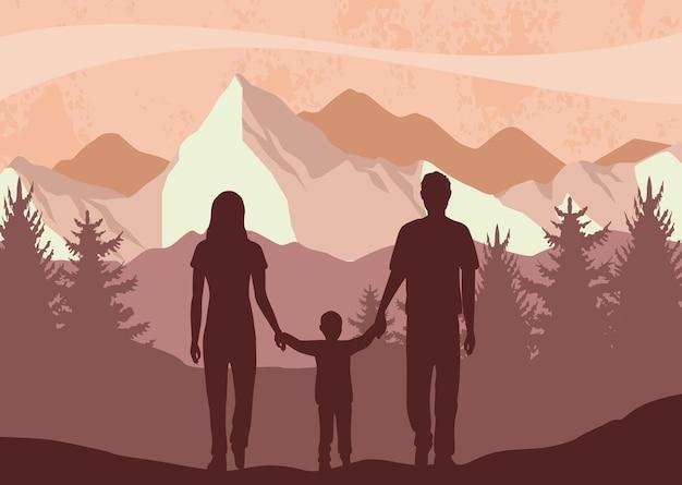 Pais com filho
