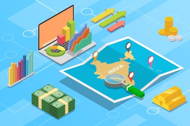 País de crescimento da economia de negócios da índia