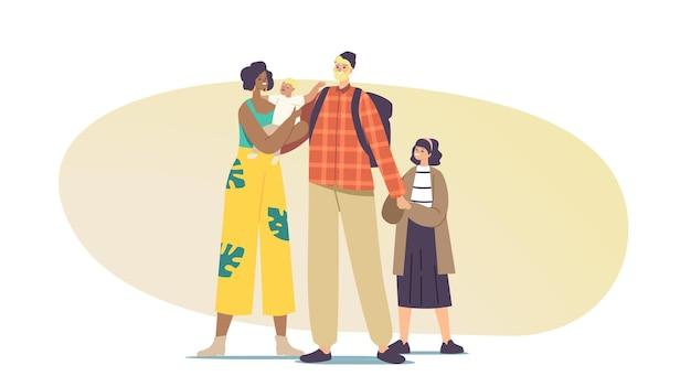 Pais e filhos inter-raciais