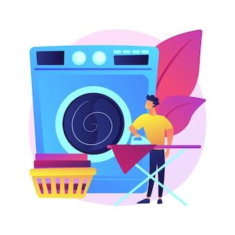 Pais e ilustração do conceito abstrato do trabalho doméstico.