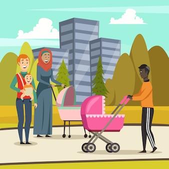Pais licença parental ortogonal
