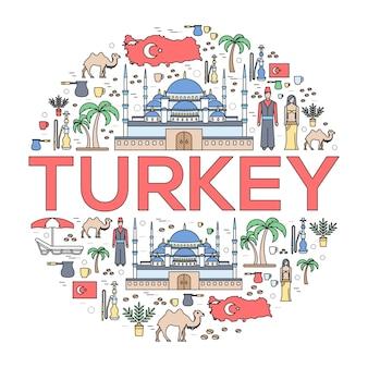 País turquia viagem guia de férias de mercadorias