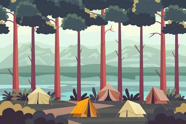 Paisagem da área de acampamento