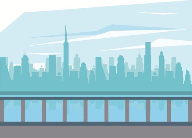 Paisagem da cidade e do rio