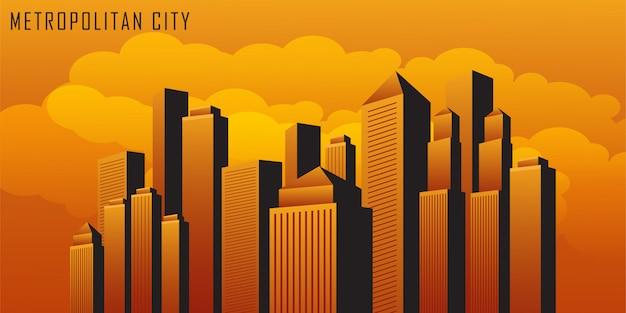 Paisagem da cidade metropolitana