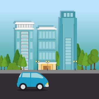 Paisagem da cidade urbana
