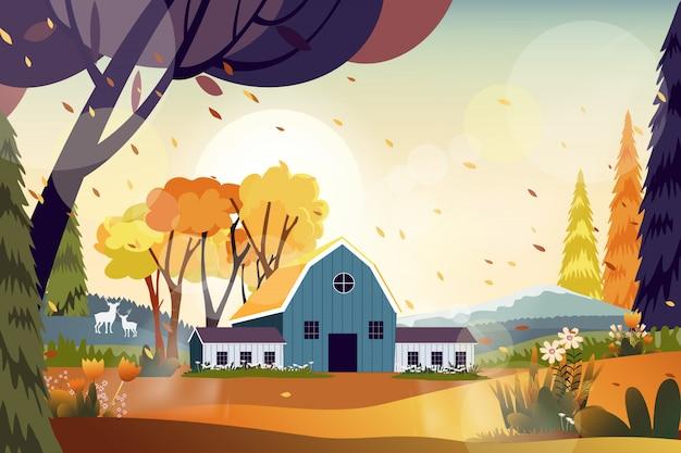 Paisagem da fazenda na zona rural