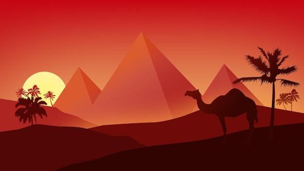 Paisagem das pirâmides do egito
