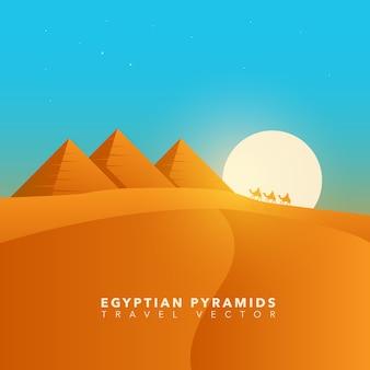 Paisagem das pirâmides egípcias